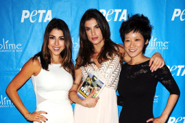 "Celebrities unveil their  brand-new ""Try to Relate to Who's on Your Plate"" ad campaigns for peta2, PETA's youth division, held at Sublime Restaurant"