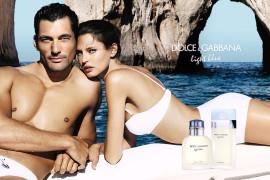 La modelo Biana Balti con el apuesto David Gandy en el anuncio de publicidad de 'Light Blue', la nueva fragancia de Dolce & Gabbana.