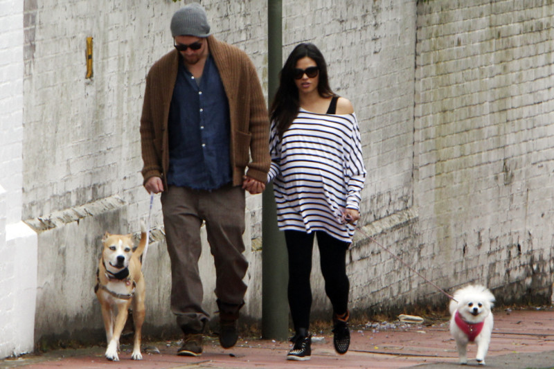 Jenna and Channing Tatum out walking their dogs