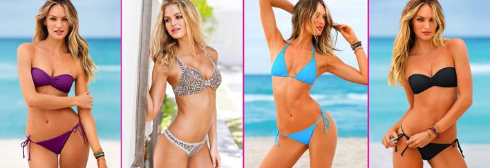 La modelo sudafricana Candice Swanepoel posa sugerente para el catálogo de bañadores mayo 2013 de la firma Victoria's Secret.