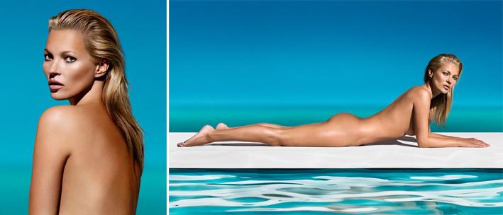 La modelo inglesa Kate Moss como imagen de St Tropez.