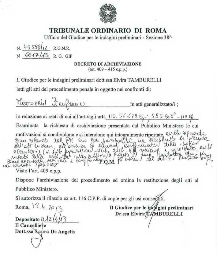 decreto archiviazione 001x
