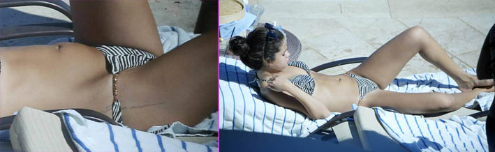 Selena Gomez Poolside