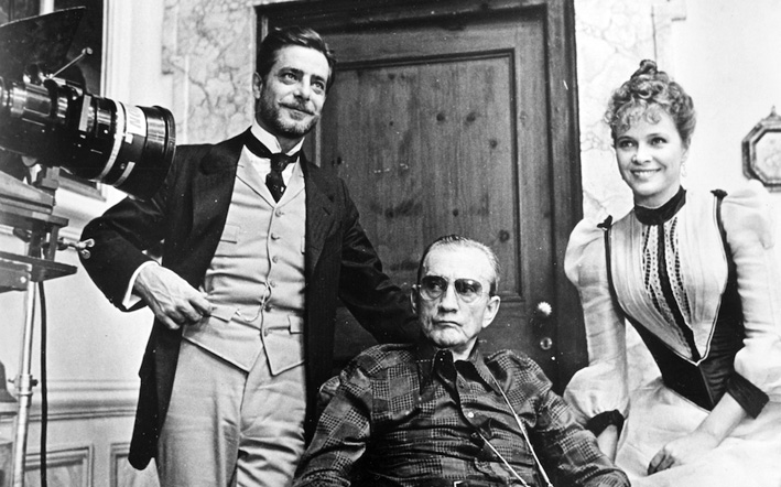 Luchino Visconti, Giancarlo Giannini And Laura Antonelli