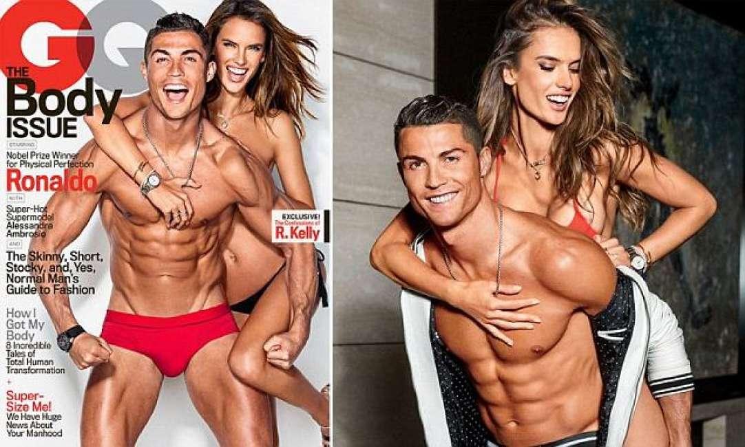 Photo of Cristiano Ronaldo e Alessandra Ambrosio, l'Angelo di Victoria'S, si spogliano in un servizio per GQ
